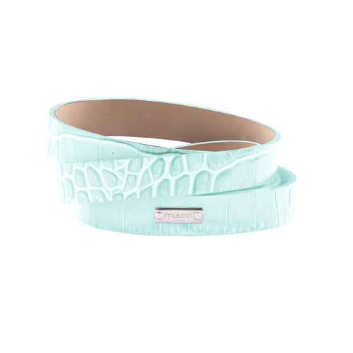 Leather Wrap Bracelet A - Mint