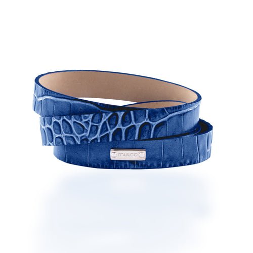Leather Wrap Bracelet A - Navy