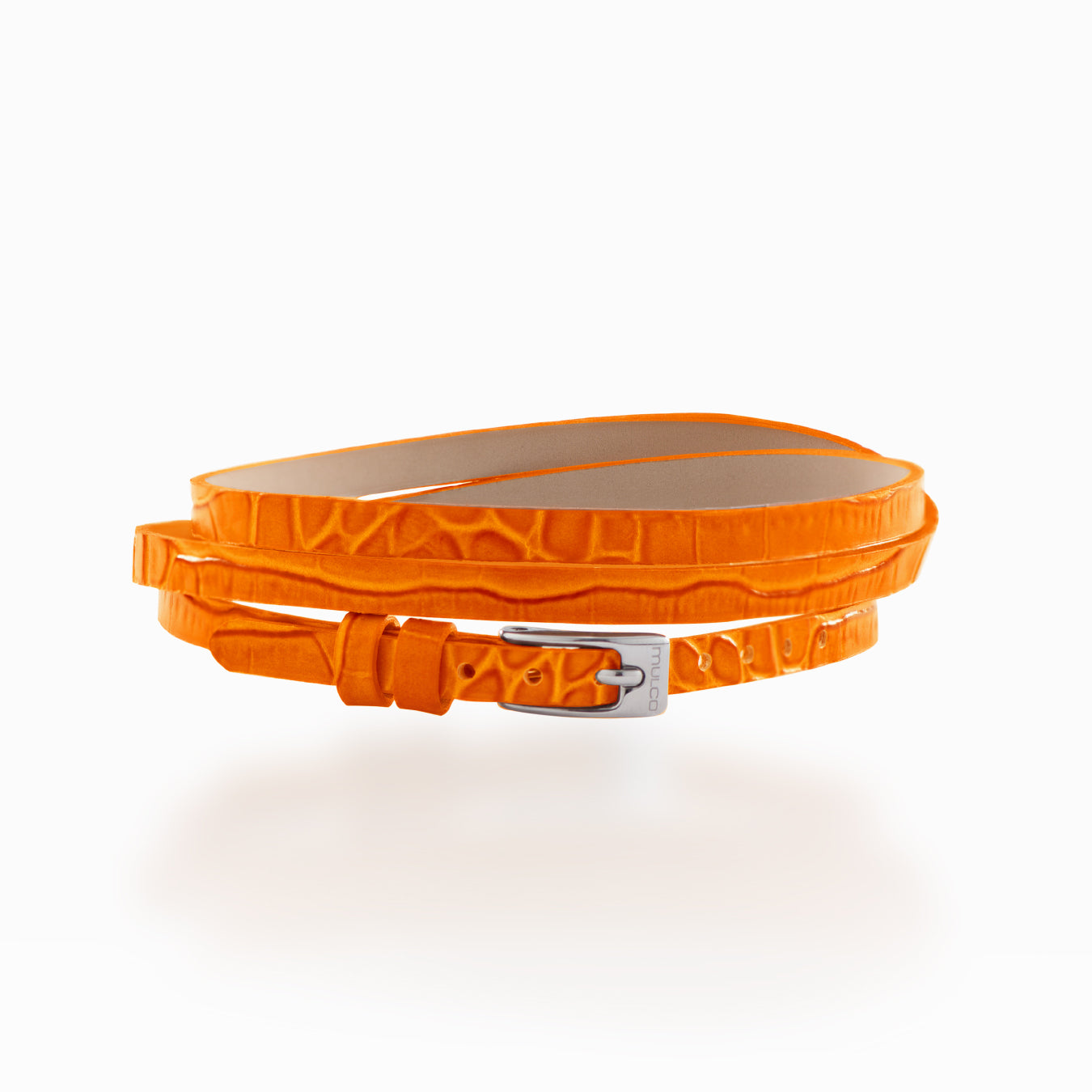 Mulco Accessories | Leather Wrap Bracelet Orange