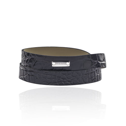 Leather Wrap Bracelet A - Black