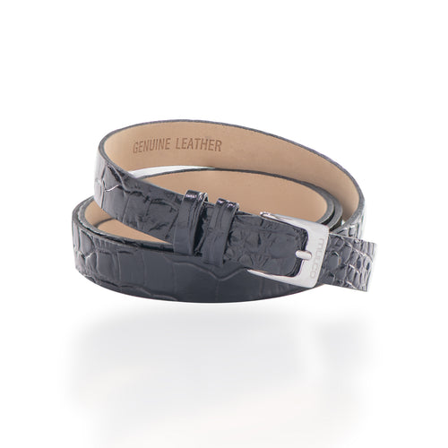 Leather Wrap Bracelet A - Black-Accessories-Mulco-Watches