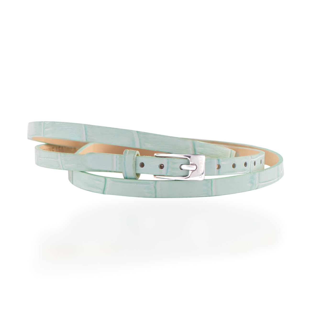Leather Wrap Bracelet B - Light Blue