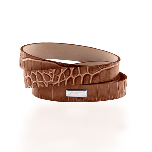 Leather Wrap Bracelet A - Brown