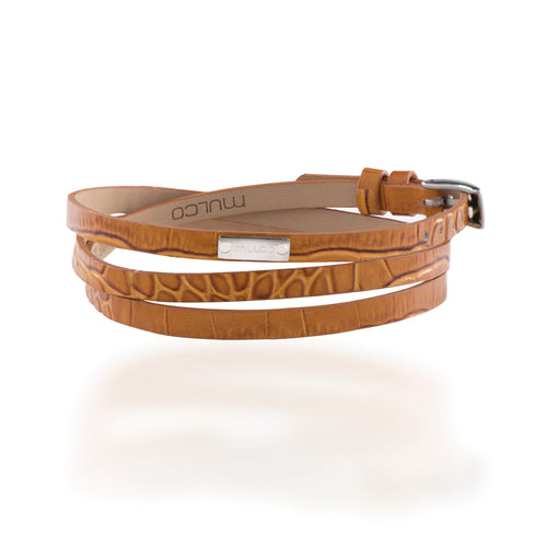 Mulco Accessories | Leather Wrap Bracelet Brown