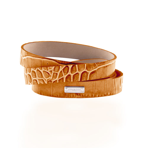 Leather Wrap Bracelet A - Camel