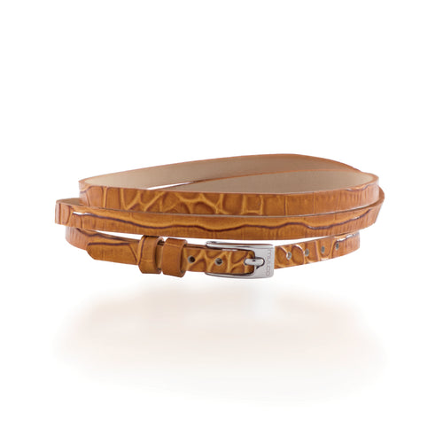 Mulco Accessories | Leather Wrap Bracelet Camel