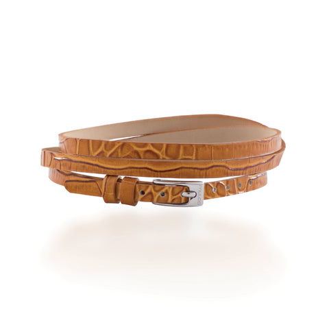 Leather Wrap Bracelet B - Brown