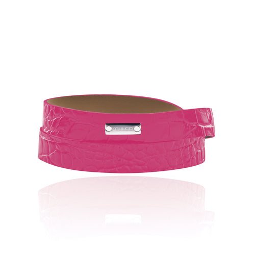 Mulco Accessories | Leather Wrap Bracelet Pink