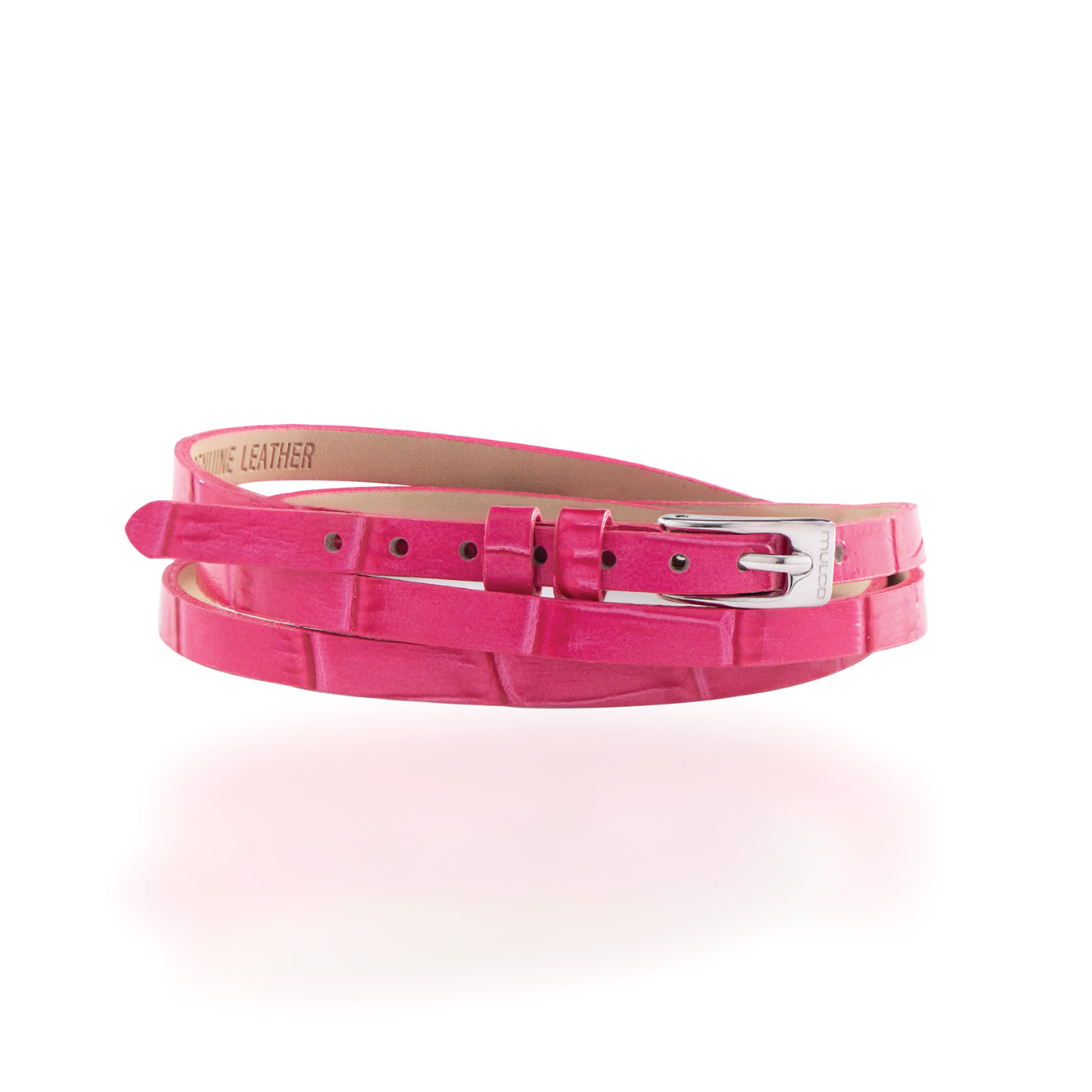 Leather Wrap Bracelet B - Pink-Accessories-Mulco-Watches