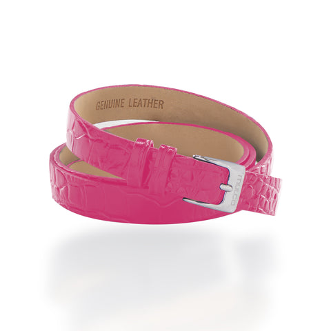 Leather Wrap Bracelet A - Pink