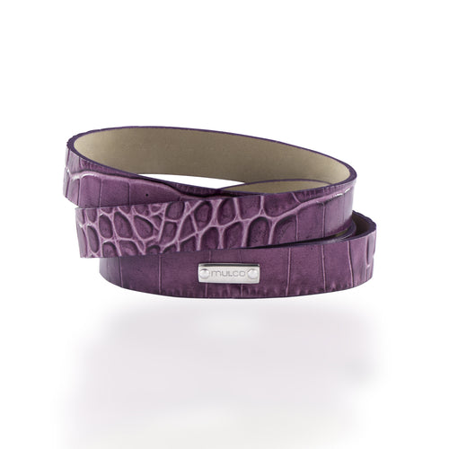 Leather Wrap Bracelet A - Purple-Accessories-Mulco-Watches