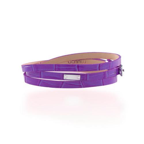 Leather Wrap Bracelet B - Purple