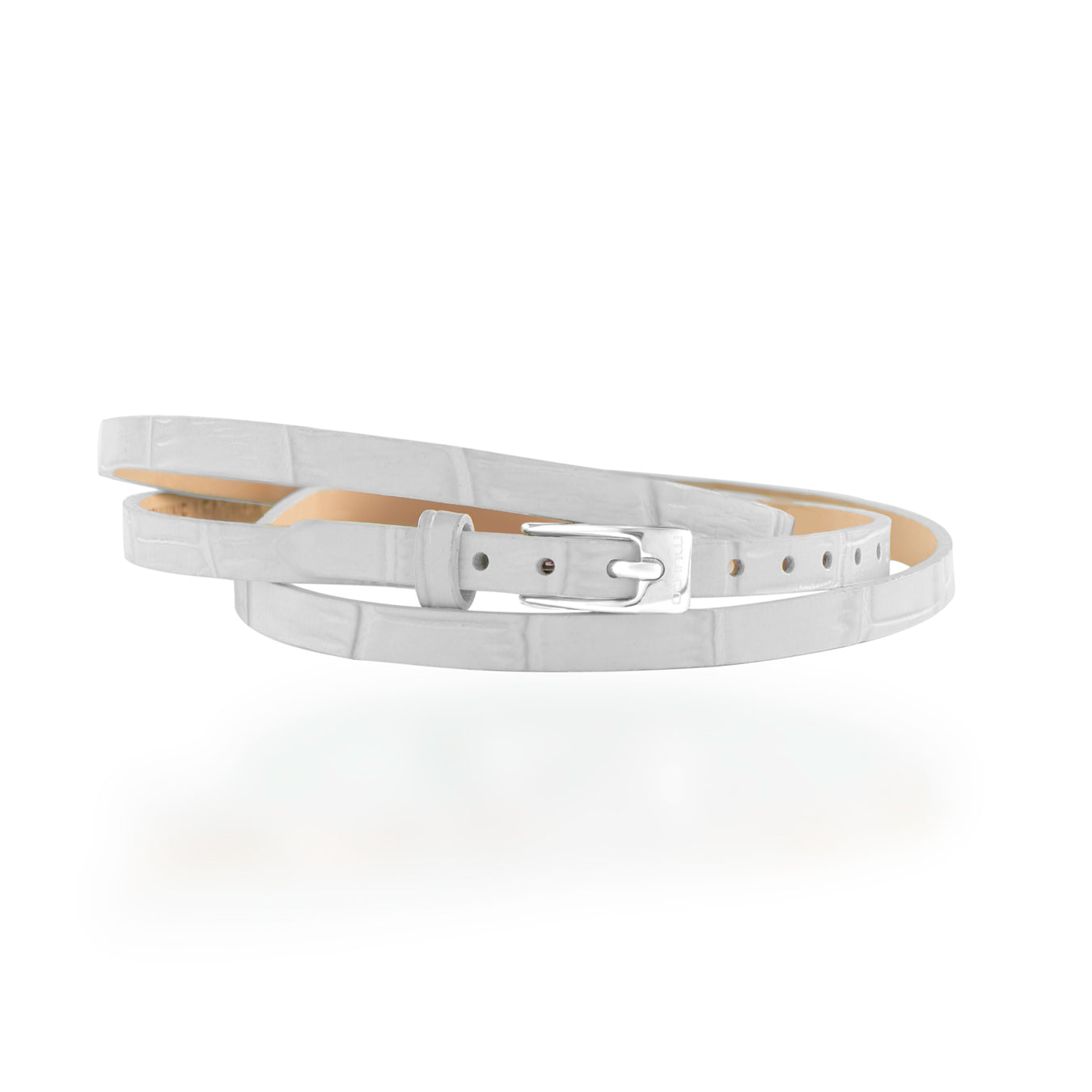 Leather Wrap Bracelet B - White Accessories Mulco-Usa
