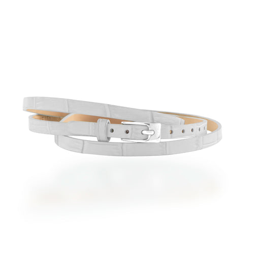 Leather Wrap Bracelet B - White