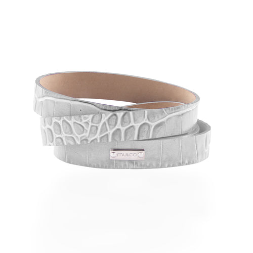 Leather Wrap Bracelet A - White