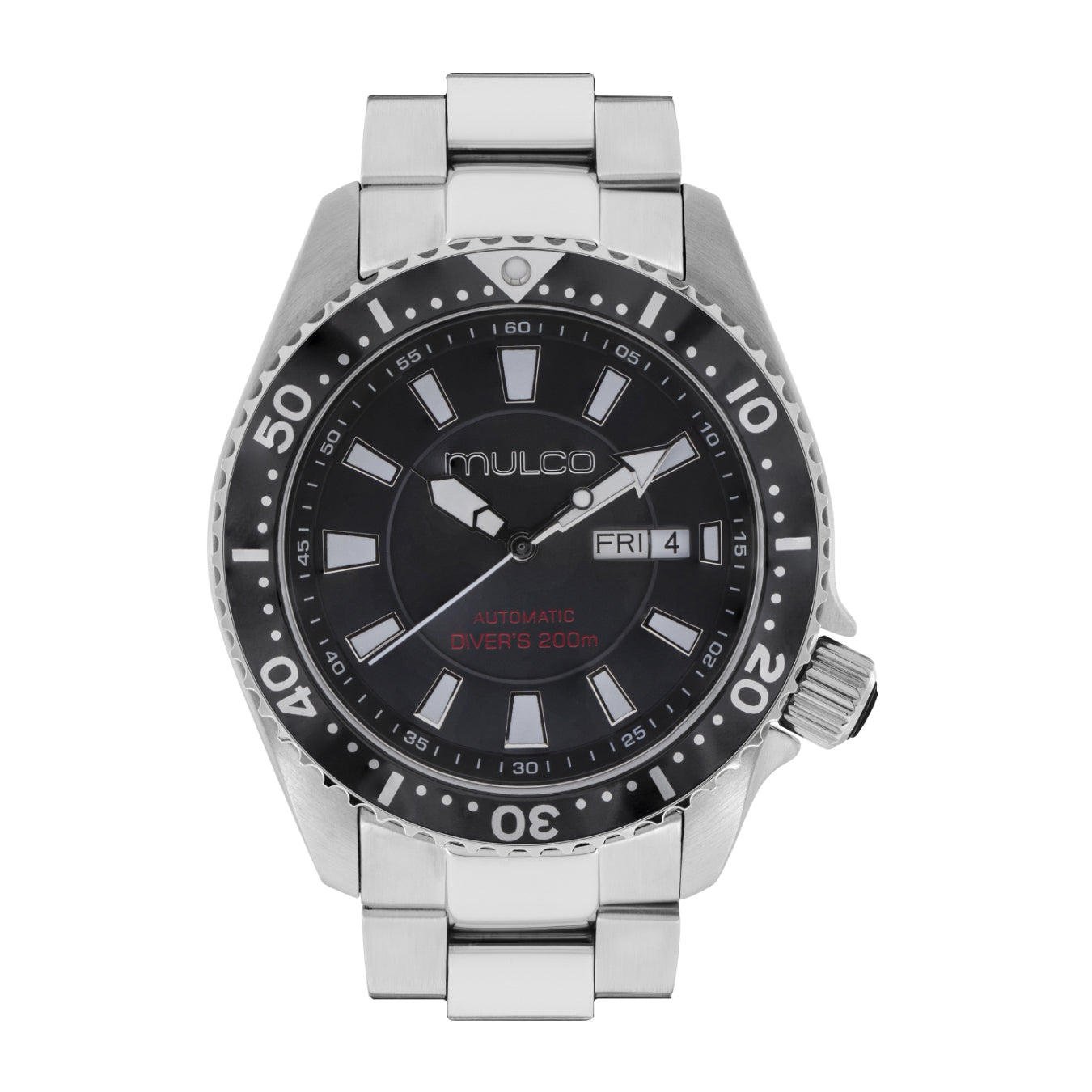 Men Watches | Solid Stainless Steel | Silver accents | Water Resistant