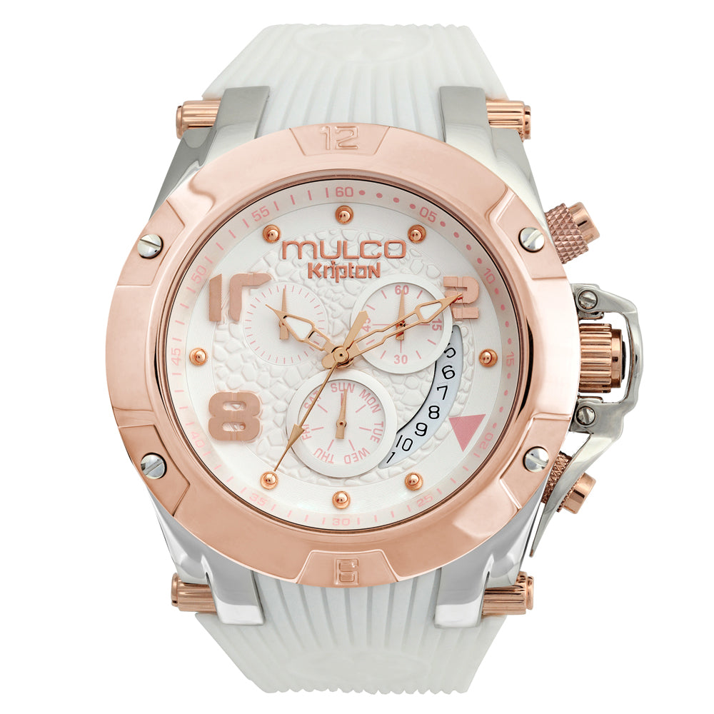 Women Watches | White Silicone Band | Rose Gold accents | Water Resistant