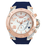 Women Watches | Blue Silicone Band | Rose Gold accents | Water Resistant
