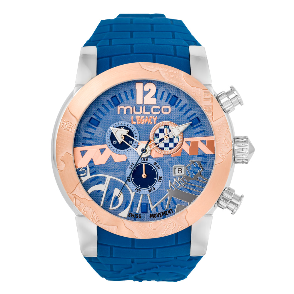 Womens Watches | Blue Silicone Band | Rose Gold accents | Water Resistant