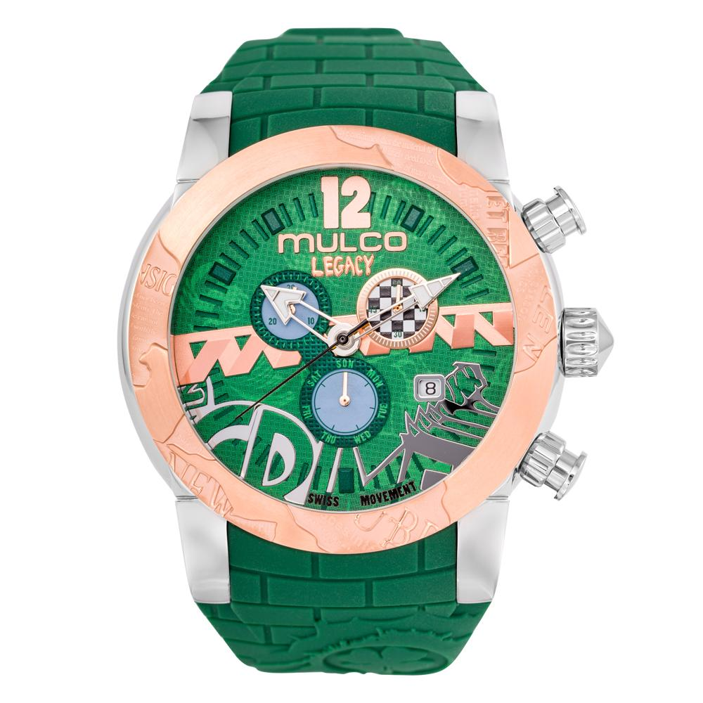Womens Watches | Green Silicone Band | Rose Gold accents | Water Resistant