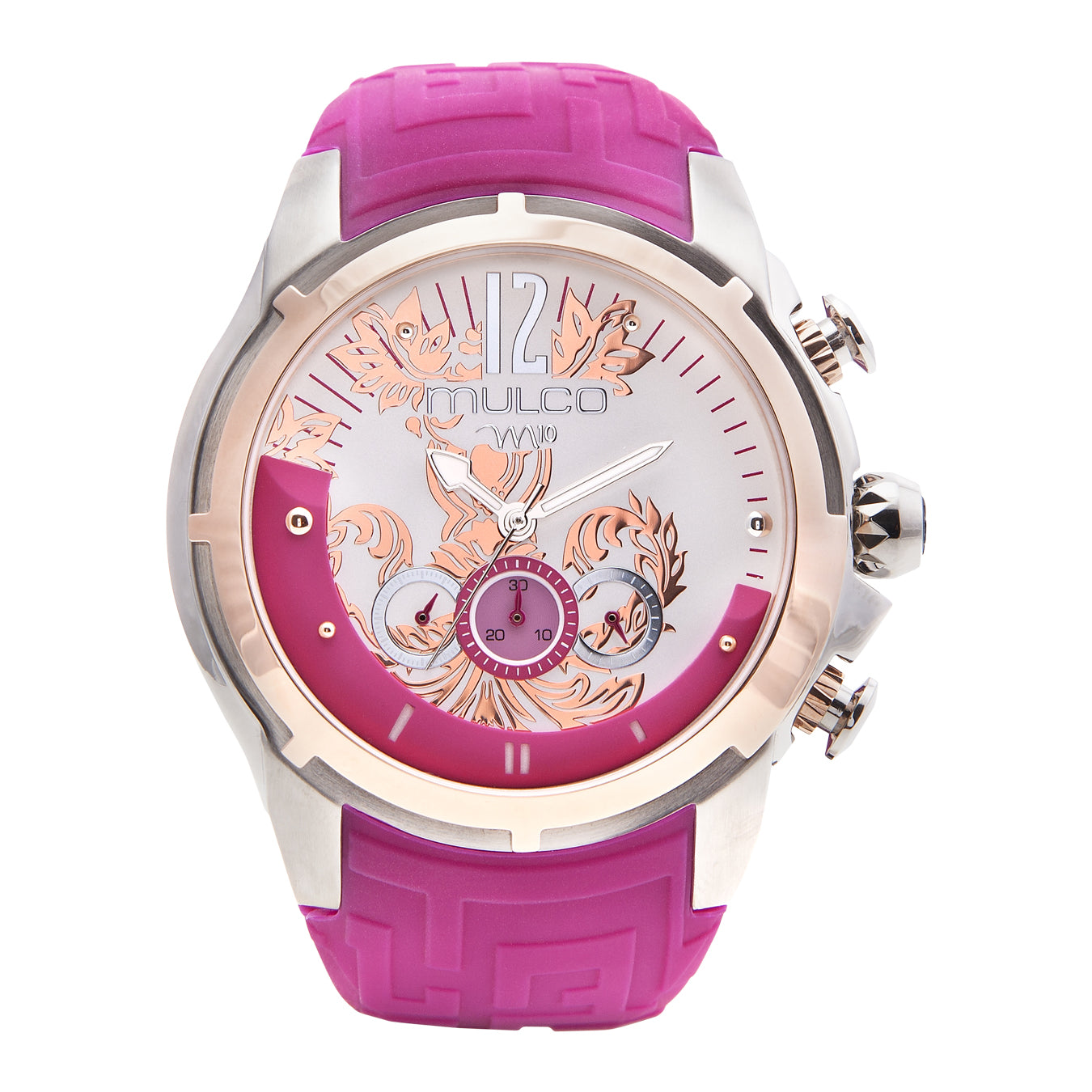 Womens Watches | Fucsia Silicone Band | Rose Gold accents | Water Resistant