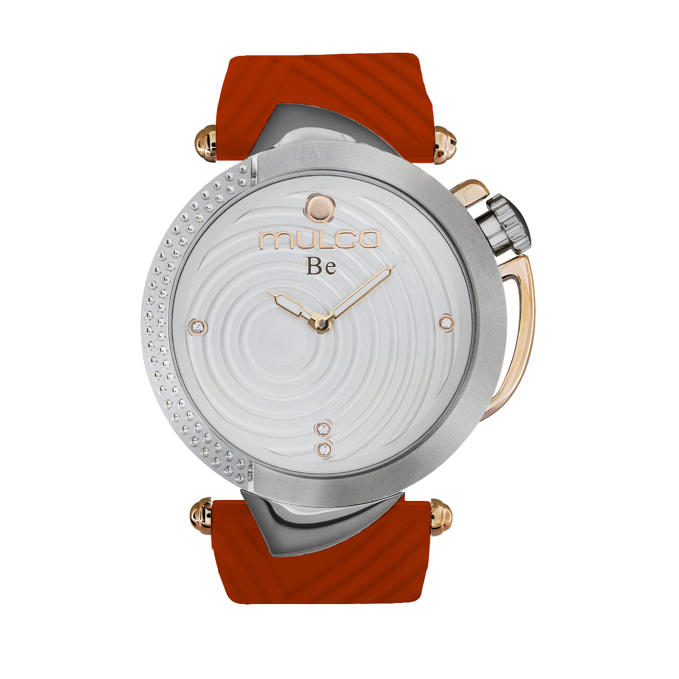 Ladies Watches | Red Silicone Band | Rose Gold accents | Water Resistant