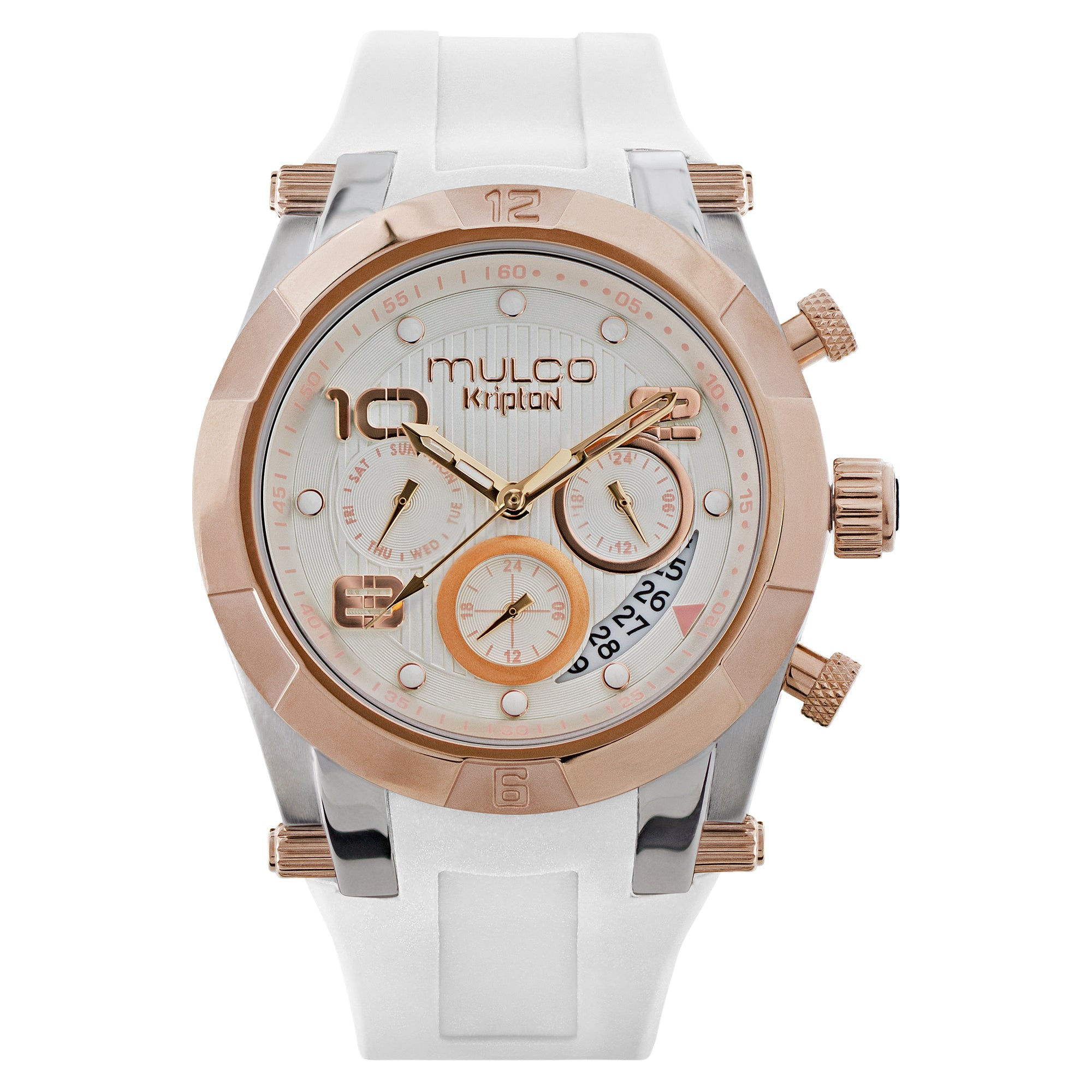 Ladies Watches | White Silicone Band | Rose Gold accents | Water Resistant