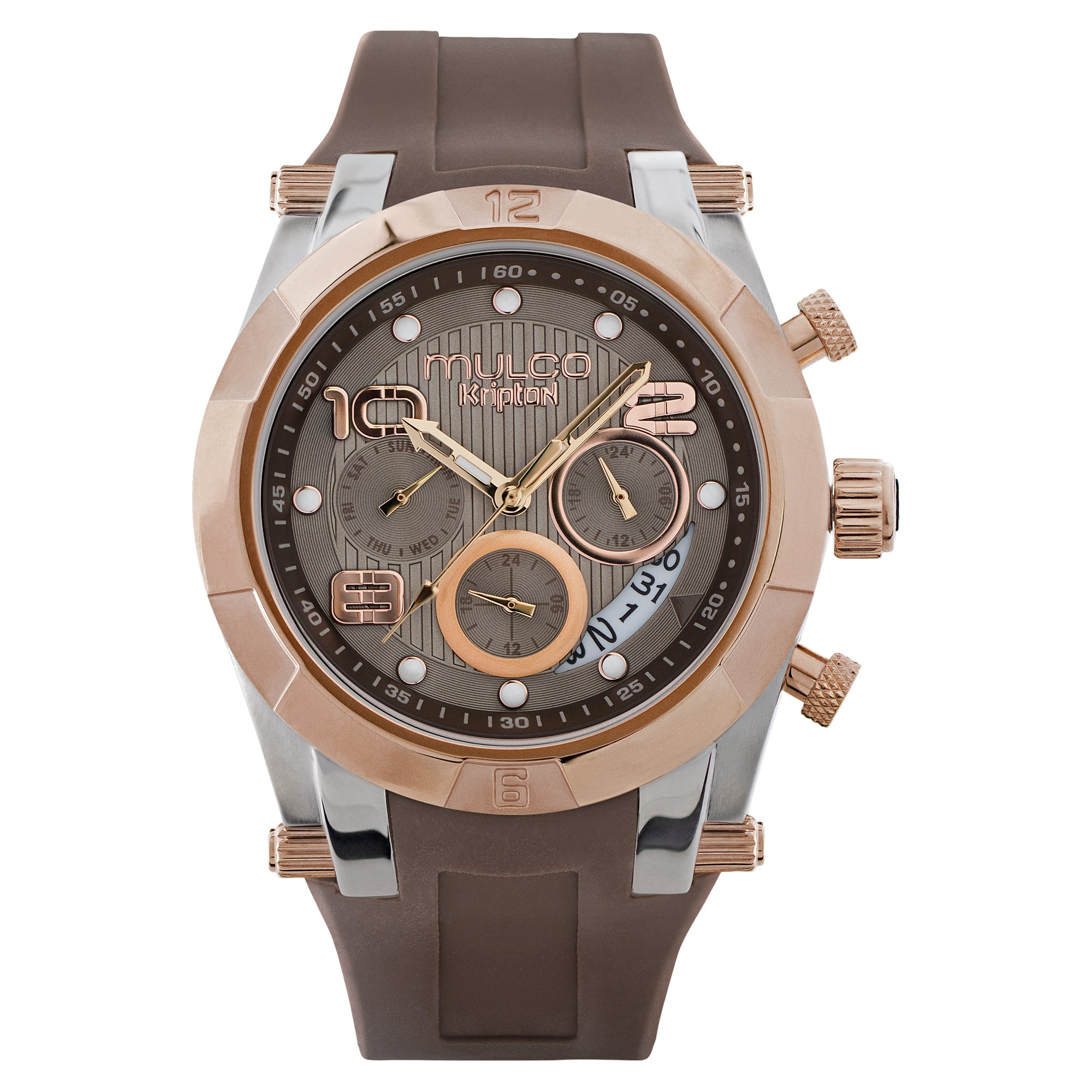 Ladies Watches | Brown Silicone Band | Rose Gold accents | Water Resistant