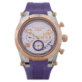 Ladies Watches | Purple Silicone Band | Rose Gold accents | Water Resistant