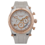 Ladies Watches | Beige Silicone Band | Rose Gold accents | Water Resistant