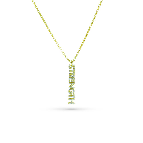 Mulco Bijoux | Strenght Thin Chain Necklace | Cubic Zirconia