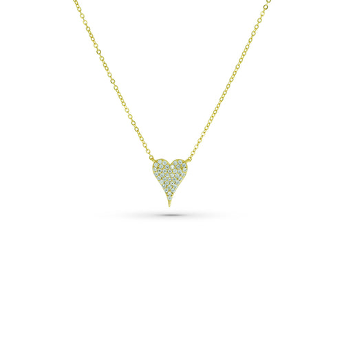 Mulco Bijoux | Heart Thin Chain Necklace | Cubic Zirconia