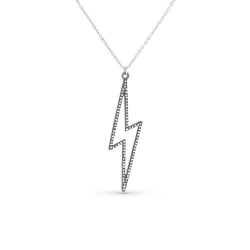Mulco Bijoux | Lightning Hollow Charm thin chain Necklace