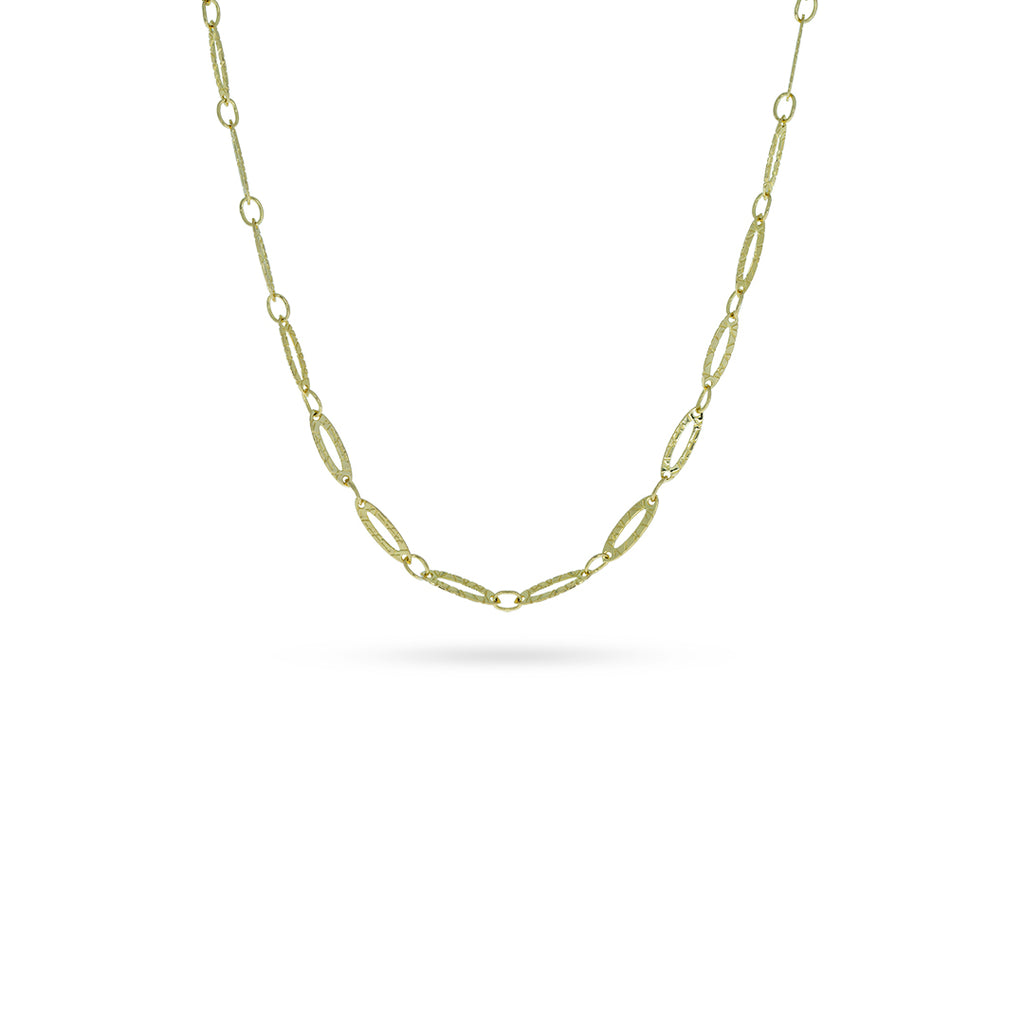 Mulco Bijoux | Oval Chain Choker Necklace | Yellow Gold Plated