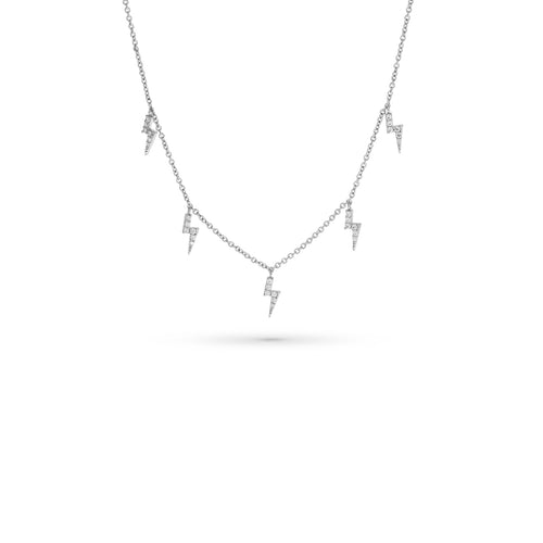 Mulco Bijoux | Mini Lightning Charms thin Chain Chocker Necklace
