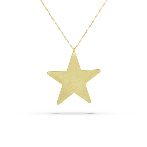 Star Bolt Thin Chain Necklace