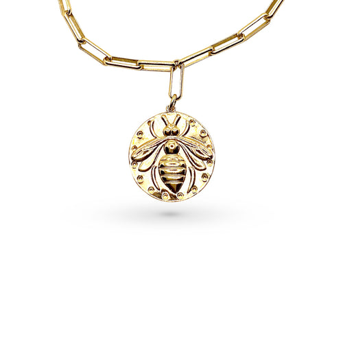 Mulco Jewelry | Bee Medal Pendant Necklace