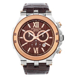 Ladies - Mens Watches | Brown Leather Band | Rose Gold accents | Water Resistant