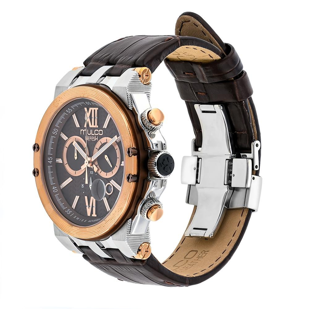 Ladies - Mens  Watches | Mulco Nefesh Iconic | Stainless Steel | Brown Italian Leather