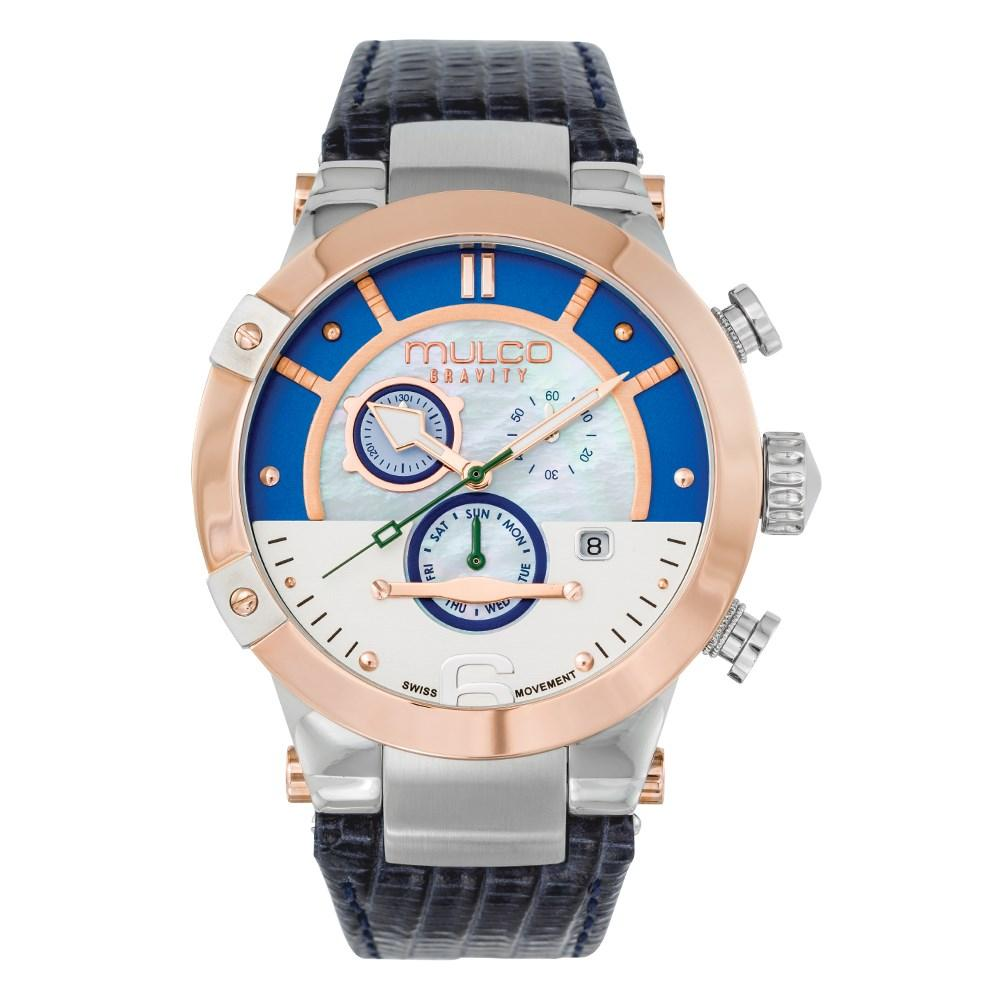 Womens Watches | Blue Leather Band | Rose Gold accents | Water Resistant