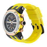 Men Watches | Mulco Blue Marine Glass | Stainless Steel | YellowReverse