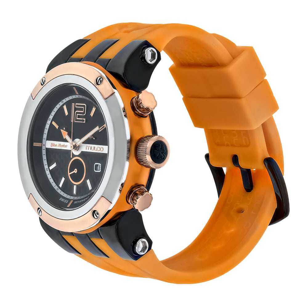 Men Watches | Mulco Blue Marine Glass | Stainless Steel | OrangeReverse