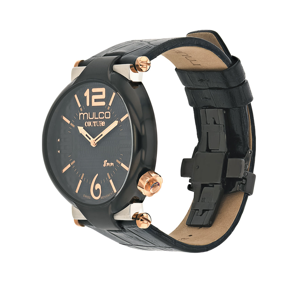 Ladies Watches | Mulco Couture Slim | Stainless Steel | BlackReverse