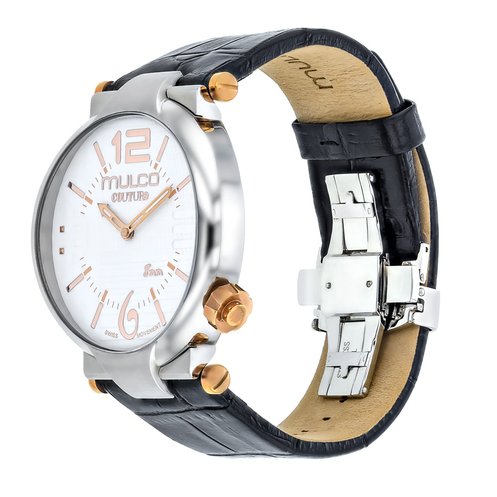 Ladies Watches | Mulco Couture Slim | Stainless Steel | BlackAndSilverReverse