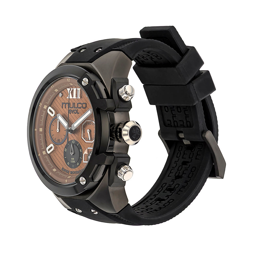 Men Watches | Mulco Evol Lock | Pattern Texture | BlackReverse