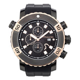 Men Watches | Black Silicone Rubber Band | Rose Gold accents | Water Resistant