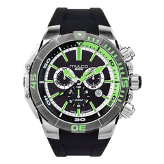 Men Watches | Black Silicone Rubber Band | Steel accents | Water Resistant