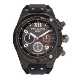 Men Watches | Black Silicone Band | Silver accents | Water Resistant