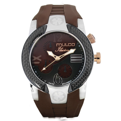 Men Watches | Brown Silicone Band | Rose Gold accents | Water Resistant
