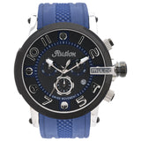 Men Watches | Blue Silicone Band | Silver accents | Water Resistant